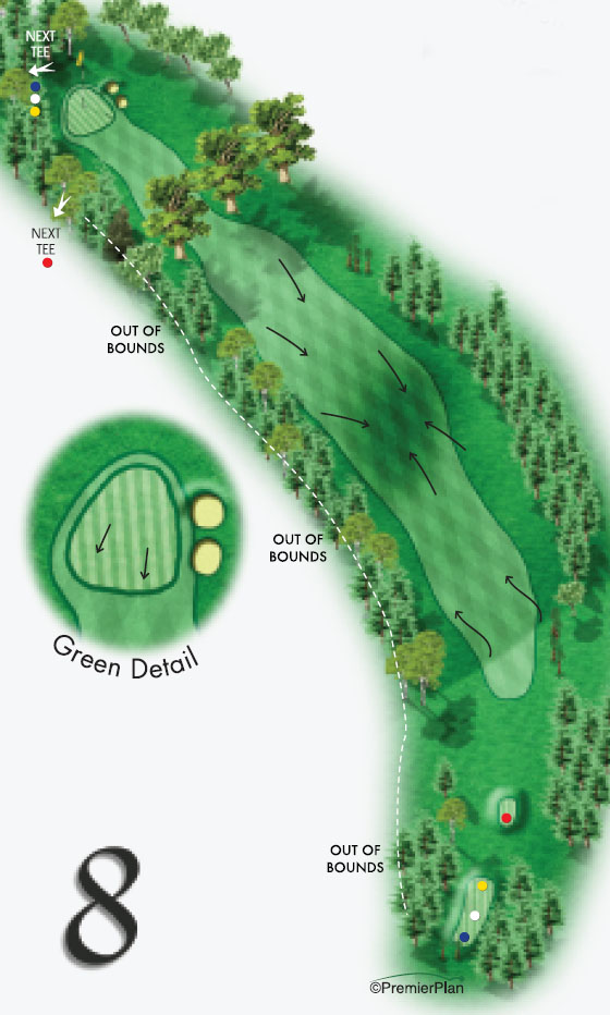 Hole 8 no yards
